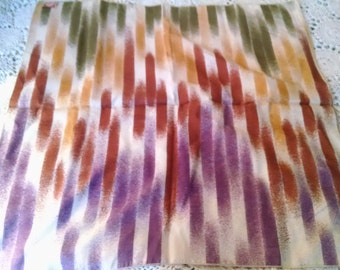 Vintage Carol Laurie Ltd.   70s Striped  Square Scarf