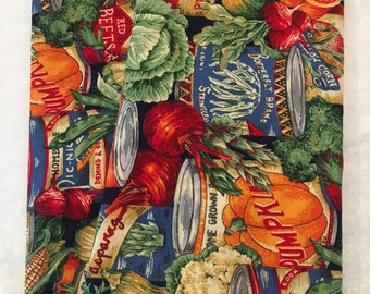 Vegetable Cans (2) Cloth/Fabric Dinner Napkins