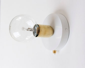 Brass Wall Sconce with 120mm wall sconce and button switch   wall light   wall lamp