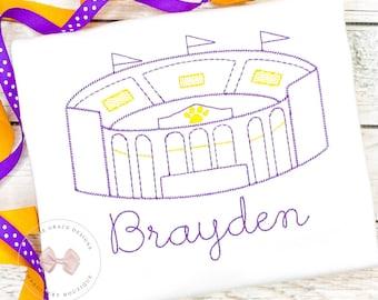 Tiger Stadium Embroidered Shirt or Bodysuit