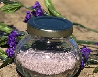 Lavender Faceted Round Jar 6 oz.