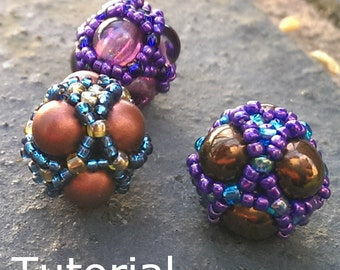 Purely Platonic Tetrahedron Beaded Bead Pattern/Tutorial - Instant Download