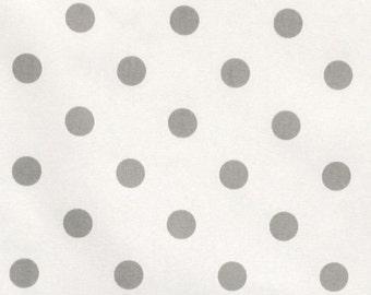 Premier Prints, Upholstery Fabric, Polka Dot Fabric, Storm Gray, Grey, Twill, Home Decor Fabric, Premier Prints Polka Dots, FAST SHIPPING