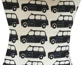 "Designer london british back taxi cab queen uk retro funky cushion cover 16"" - 24"""