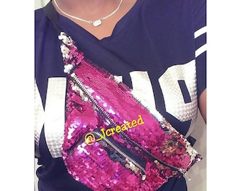 Pink Sequin Fanny Pack