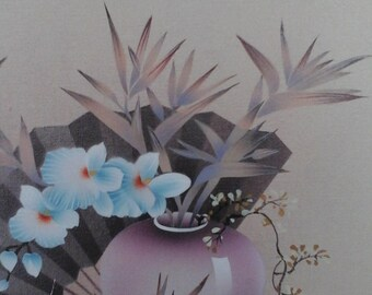 Signed original Naventy oil floral painting