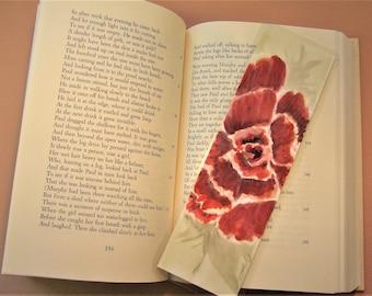 Watercolour Rose Bookmark