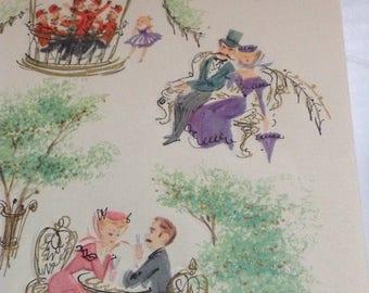 Vintage Anniversary card unused+env