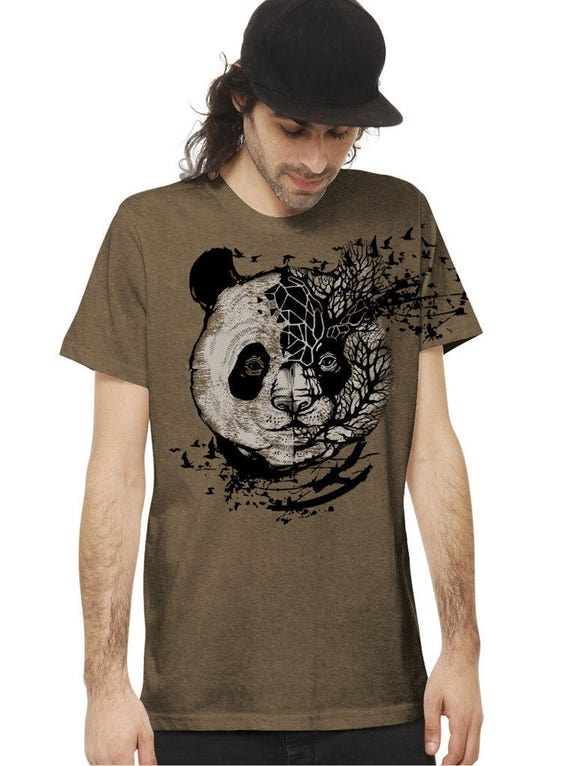 Men's Idiographic Elephant Soft Quality T-Shirt - Regular Fit Cotton Top - Alternative Clothing with Artistic Design - Festival Clothing 3APiM9TKv