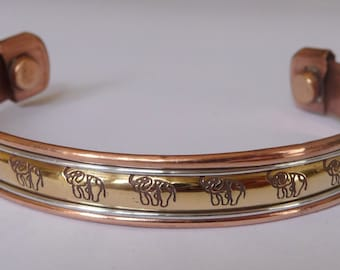 Copper magnetic bracelet with magnetic Copper magnetic bracelet elephant magnets