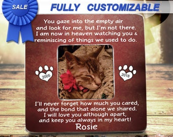 PET MEMORIAL Frame Pet Memorial Gifts Pet Loss Frame,Pet Picture Frame,Forever In My Heart, Loss Of Pet Memorial, Loss Of Cat Memorial Frame