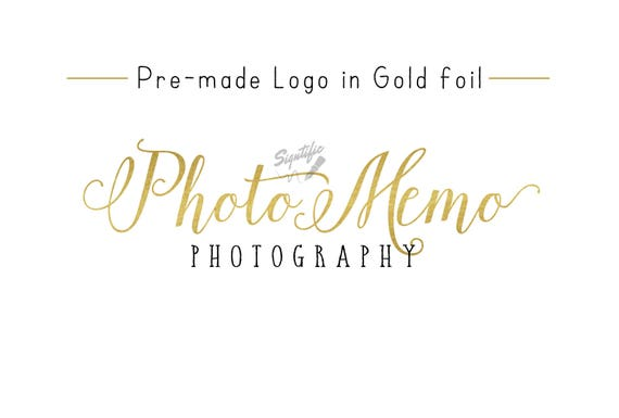 Premade Gold Foil Name Logo, Gold Leaf Logo, Photography Logo, Event Planning Logo, Business Logo, Name Signature Logo, Photographer Logo