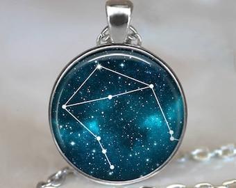 Libra Constellation necklace, Libra Constellation pendant Libra pendant birthday gift Zodiac jewelry astrology necklace key chain key ring