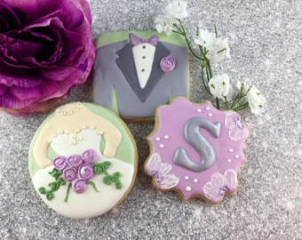 Wedding Cookies, Bride, Groom, Monogram, Luncheon, Dessert Table, Rehearsal Dinner, Shower, Favor, Cookies!