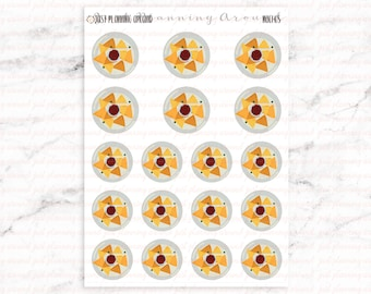 Nachos Stickers, Food Stickers, Mexican Food Stickers, Hispanic Food Stickers, for use with  Erin Condren, Happy Planner