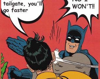 Batman & Robin Funny Bumper Sticker