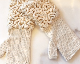 Handmade crocheted fingerless gloves, handwarmers, mittens, mitts / wrist warmers