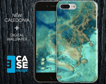 Geo Collection x New Caledonia Phone Case, iPhone X, iPhone 8 Plus, Protective iPhone Case, Galaxy s9 Nature Beach Ocean CASE ESCAPE