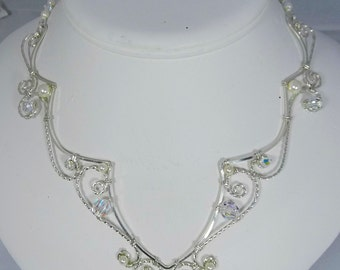 Sterling Silver, Swarovski Pearls and Crystals