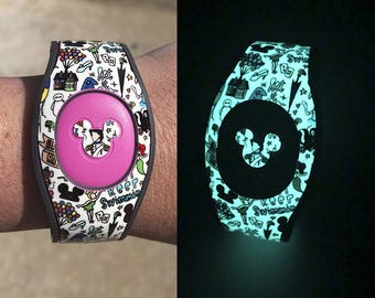 Glow in the Dark Magic Band Decal | Magic Doodles MagicBand 1 or 2 Decal | Magic Band Skin | RTS Ready To Ship