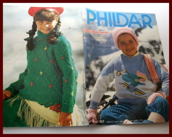 Phildar Knitting Pattern Book For Childrens Kids Knits Clothes