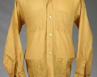 ON SALE Vintage 60s/70s Mod Towncraft Penneys L/Slv Loop Collar Shirt L 16