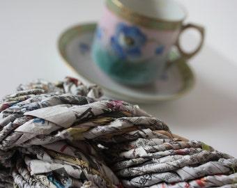 LAST ONE LEFT - Hand Twisted Newspaper Yarn