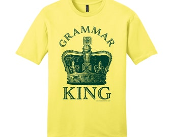 Grammar Police Shirt Grammar King Funny Shirt for Men Sarcastic Gift for Guys Funny Mens Shirts Gifts for Teachers English Teacher Gifts Fun