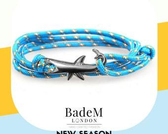 Badem London Gift Set - Shark Themed Package - Shark Bracelet & Shark Socks
