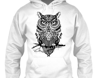 Owl nature | White Hoodie