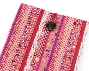 Kobo Touch, Kindle Paperwhite, iPad Mini Sleeve Cover Case, Japanese Traditional Patterns Pink Red