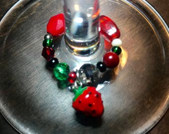 Strawberry Wine Charm
