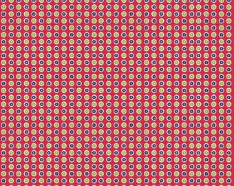 Red 1930's Dots by Riley Blake Designs 112cm (w) x 25cm