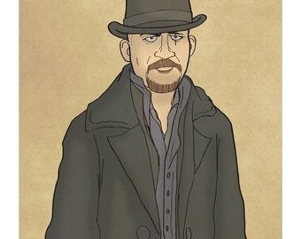 James Delaney - Taboo - Tom Hardy - Illustration Art Print