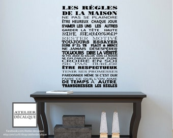 Decal wall No.. S 003 - the rules of the House