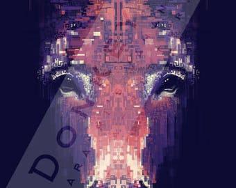 Donkey - Kalaratri's Vahana - Signed Giclée Print