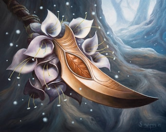 Touch of Moonglove Art Print Of Magic Illustration By Scott Murphy