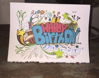 Cool Birthday Card Snowboard Birthday Adventure Birthday