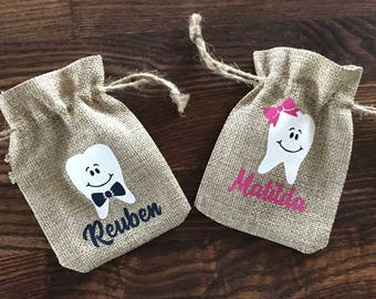 Personalised Tooth Fairy Sack - First Tooth- Children