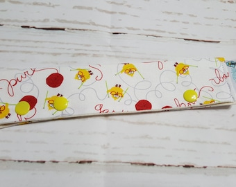 "Lil Chicks Long Needle Cozy - project holder 9""x2"" - (Hold up to 9"" Needles), DPN holder  NCL0058"