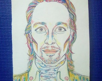 Alexander Hamilton Painting (Lin Manuel Miranda art)
