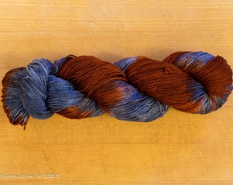 Rusty Steel Hand Dyed Merino Sock Yarn