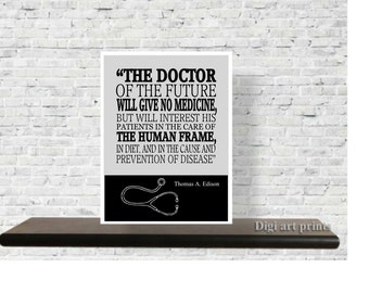 Printable Quote, Doctors Office Decor, Gift For Doctors, Thomas Edison  Quote, Wall