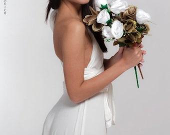 White Infinity Long dress, Convertible dress, Bride dress, wedding dress