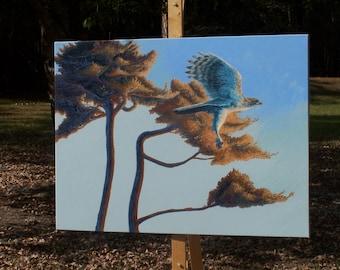 Original Hawk Painting || Hawk Artwork || Birds of Prey || Painting of Hawk