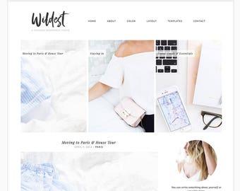 Wordpress Theme Responsive Blog Template Blog Design - Wildest - minimalist, chic