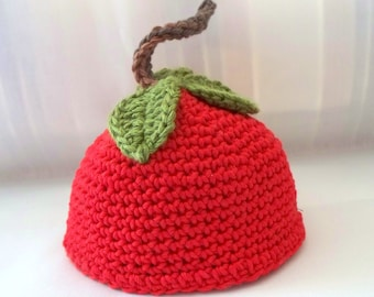 Crochet Doll Hat  Delicious Red Apple Fits 18 inch Dolls