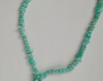 aquamarin agate necklace green and blue