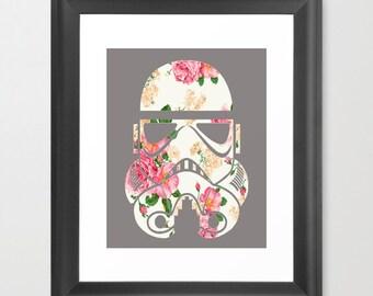 Floral Star Wars Stormtrooper Design