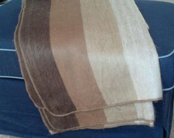 Alpaca Throw Blanket - Shades of brown